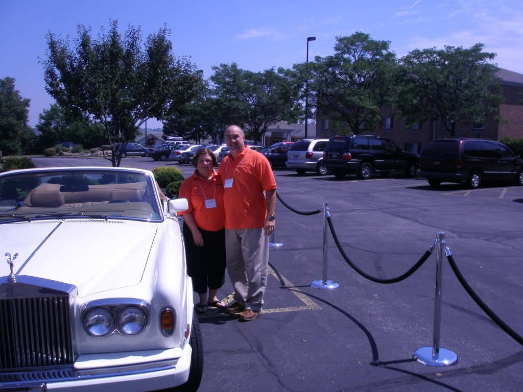 Lois with Dean Martin's Rolls Royce