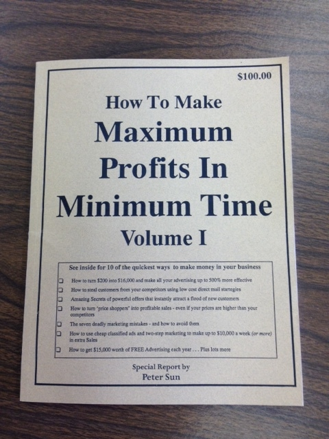 • How To Make Maximum Profits In Minimum Profits In Minimum Time Volume I